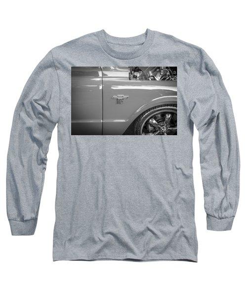 1967 Chevy Silverado Pick Up Truck  Bw Long Sleeve T-Shirt