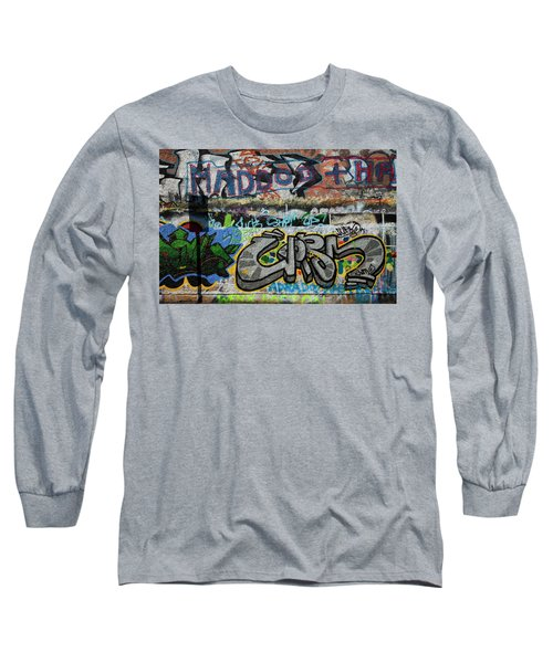 Artistic Graffiti On The U2 Wall Long Sleeve T-Shirt by Panoramic Images