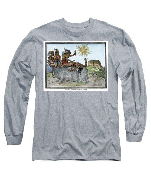 Aztec Ritual Sacrifice Long Sleeve T-Shirt