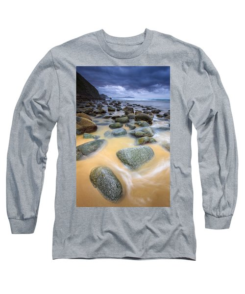 Long Sleeve T-Shirt featuring the photograph Campelo Beach Galicia Spain by Pablo Avanzini