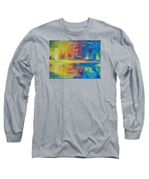 City Lights Long Sleeve T-Shirt by Teresa Wegrzyn