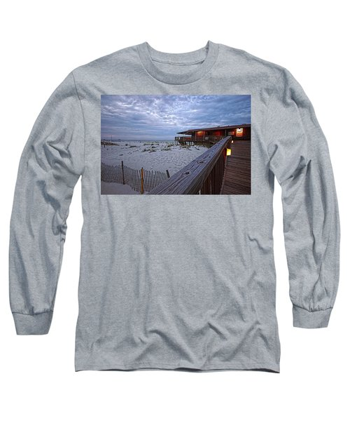 Long Sleeve T-Shirt featuring the painting Cloudy Morning At The Sea N Suds by Michael Thomas