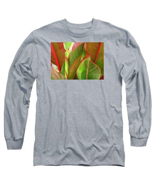 Colorful Leaves Long Sleeve T-Shirt by Ranjini Kandasamy