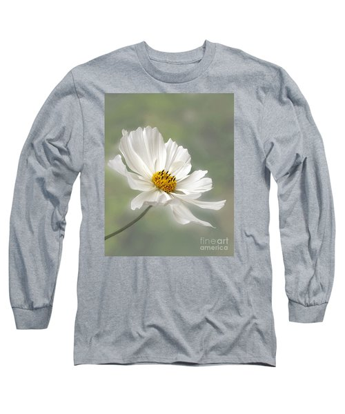 Cosmos Flower In White Long Sleeve T-Shirt