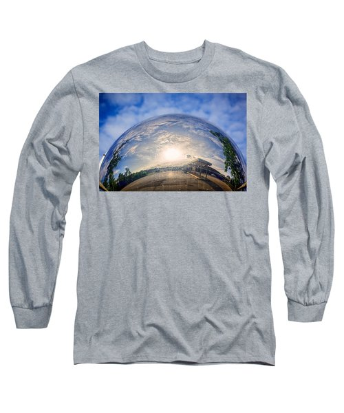 Distorted Reflection Long Sleeve T-Shirt