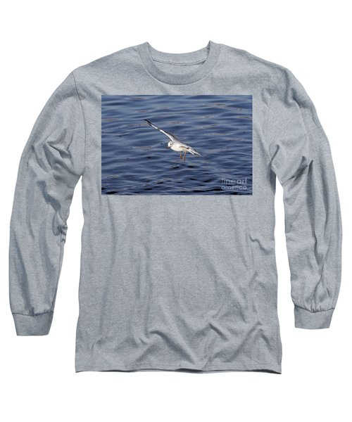 Flying Gull Long Sleeve T-Shirt by Michal Boubin