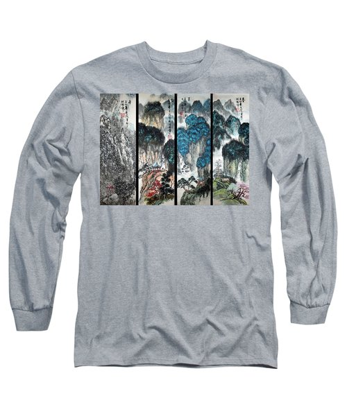 Long Sleeve T-Shirt featuring the photograph Four Seasons In Harmony by Yufeng Wang