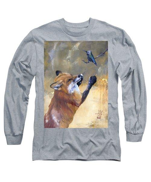 Fox Dances For Hummingbird Long Sleeve T-Shirt