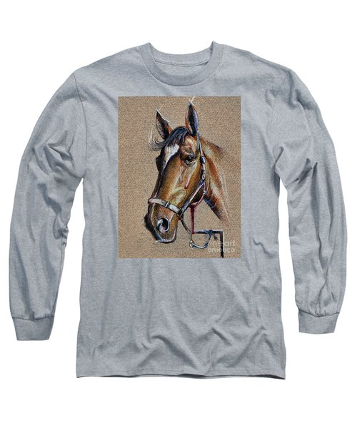 Horse Face - Drawing  Long Sleeve T-Shirt
