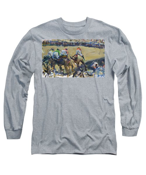 Horse Racing Painting Long Sleeve T-Shirt