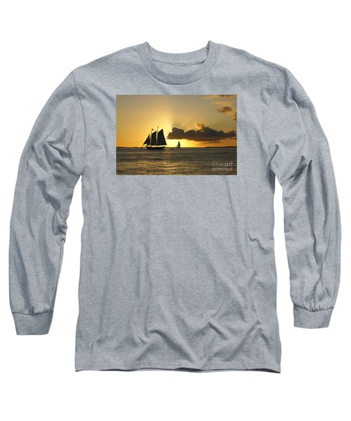 Long Sleeve T-Shirt featuring the photograph Key West Sunset by Olga Hamilton