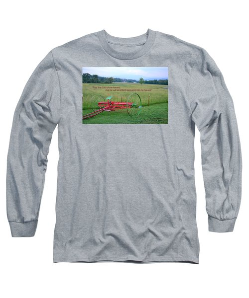 Long Sleeve T-Shirt featuring the photograph Lord Of The Harvest by Larry Bishop