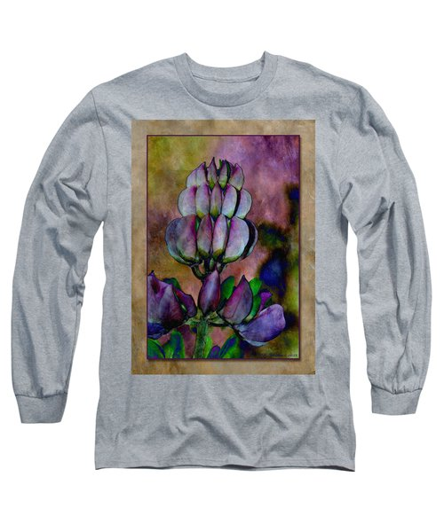 Long Sleeve T-Shirt featuring the photograph Lupin Blossom by WB Johnston