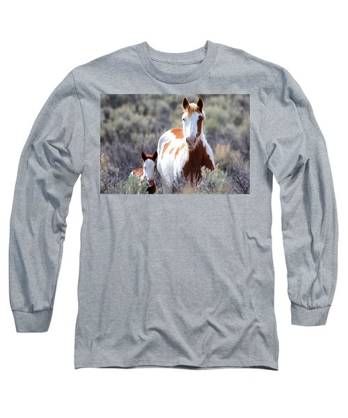 Momma And Baby In The Wild Long Sleeve T-Shirt by Athena Mckinzie