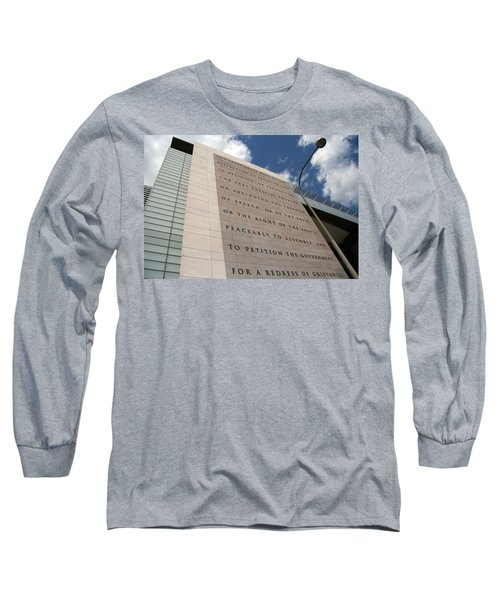Long Sleeve T-Shirt featuring the photograph The Newseum by Cora Wandel