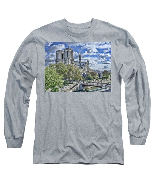 Long Sleeve T-Shirt featuring the photograph Notre Dame by Hugh Smith