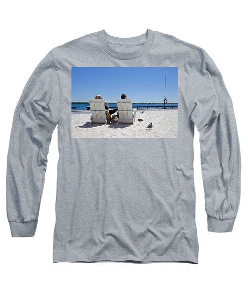 On The Waterfront Long Sleeve T-Shirt by Keith Armstrong