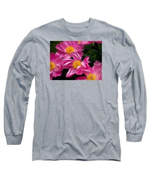 Pink Petals Long Sleeve T-Shirt by Eunice Miller