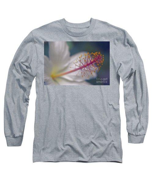 Long Sleeve T-Shirt featuring the photograph Pua Aloalo - Koki'o Ke'oke'o - Hibiscus Arnottianus - Hawaiian White Hibiscus  by Sharon Mau