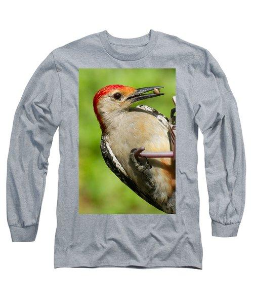 Red Bellied Woodpecker Long Sleeve T-Shirt by Robert L Jackson