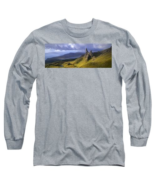 Rock Formations On Hill, Old Man Long Sleeve T-Shirt