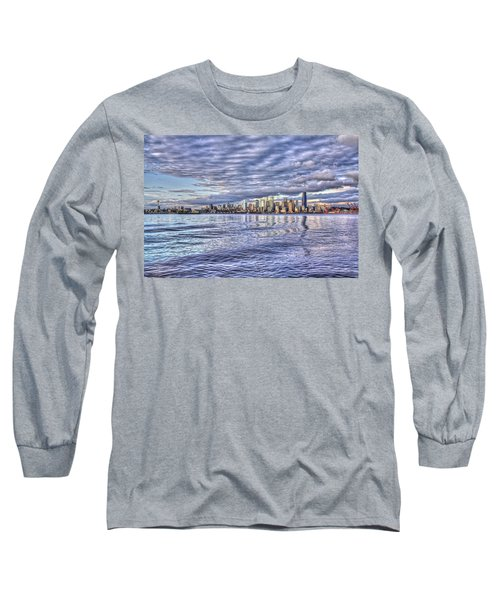 Seattle Skyline Cityscape Long Sleeve T-Shirt