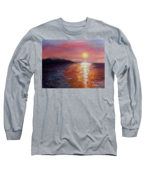 Sunset In Ixtapa Long Sleeve T-Shirt by Marlene Book