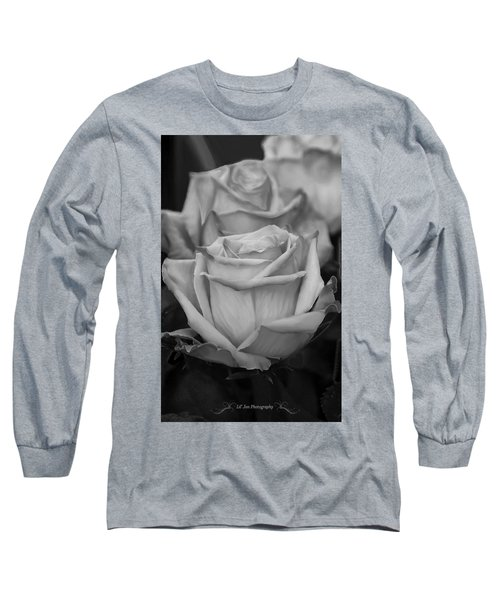 Tea Roses In Black And White Long Sleeve T-Shirt