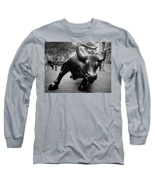 The Wall Street Bull Long Sleeve T-Shirt by Pixabay
