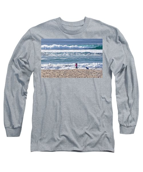Long Sleeve T-Shirt featuring the photograph Thundering Waves by Susan Wiedmann