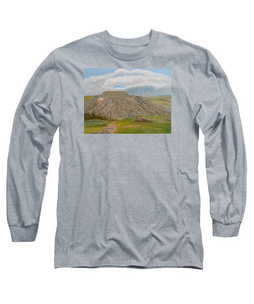 Tucumcari Mountain Reflections On Route 66 Long Sleeve T-Shirt by Sheri Keith