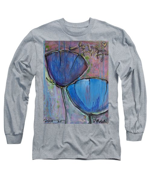 Two Blue Poppies Long Sleeve T-Shirt