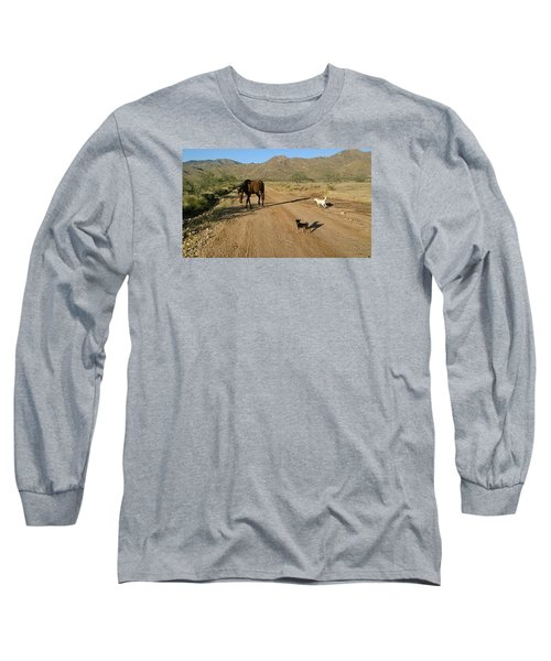 Three Friends On The Range Long Sleeve T-Shirt