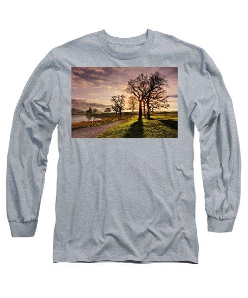 Winter Morning Shadows / Maynooth Long Sleeve T-Shirt