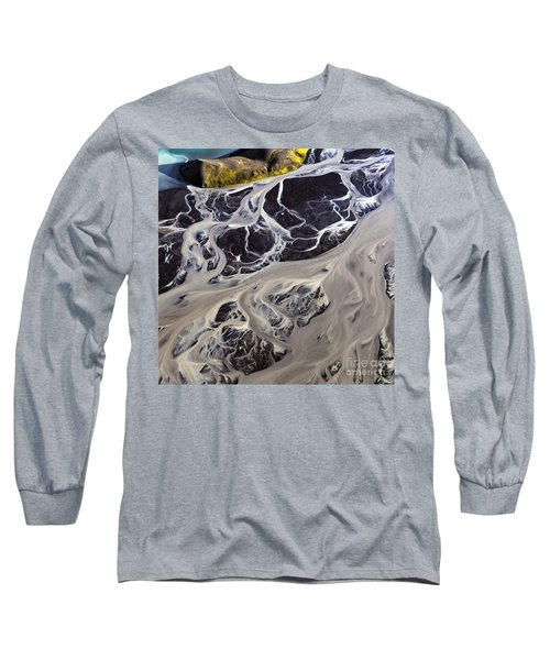 Iceland Aerial Photo Long Sleeve T-Shirt