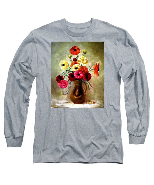 Long Sleeve T-Shirt featuring the painting Basking In The Light by Hazel Holland