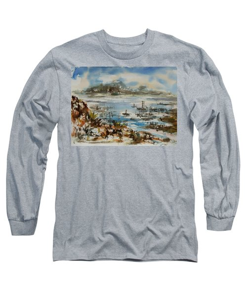 Long Sleeve T-Shirt featuring the painting Bay Scene by Xueling Zou