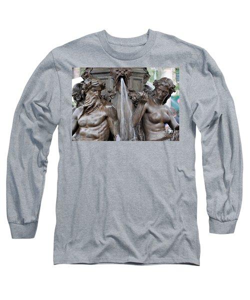Brewer Fountain Boston Ma  Long Sleeve T-Shirt