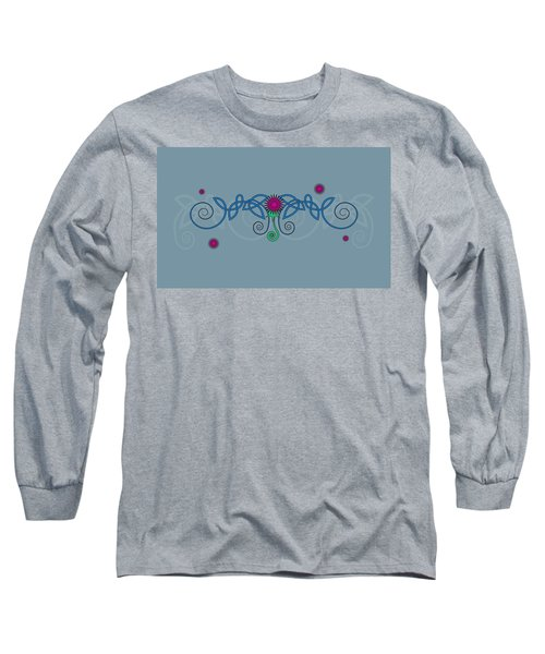 Celtic Thistle Long Sleeve T-Shirt by Ireland Calling