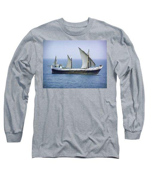 Fishing Vessel In The Arabian Sea Long Sleeve T-Shirt