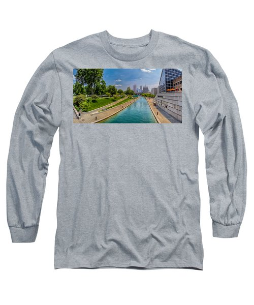 Indianapolis Skyline From The Canal Long Sleeve T-Shirt