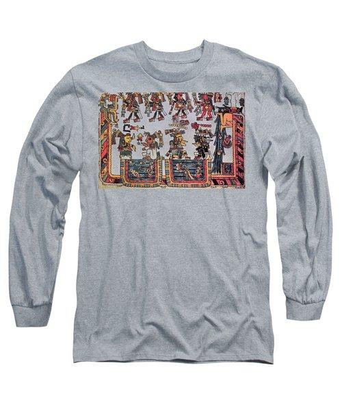 Mexico Mixtec Manuscript Long Sleeve T-Shirt