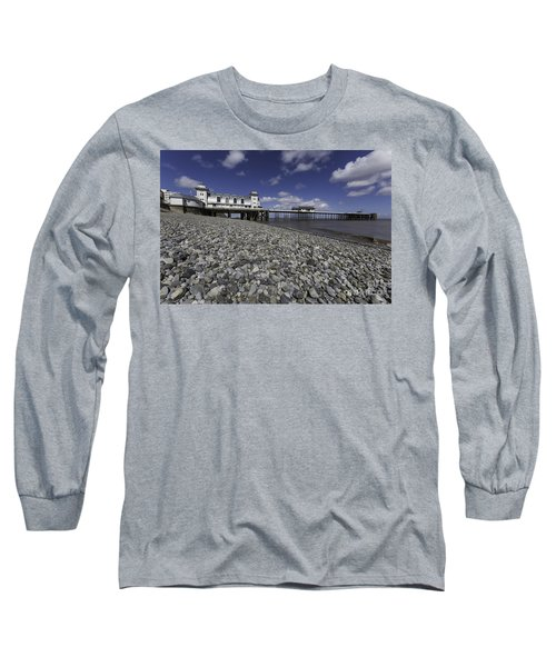 Penarth Pier 2 Long Sleeve T-Shirt by Steve Purnell