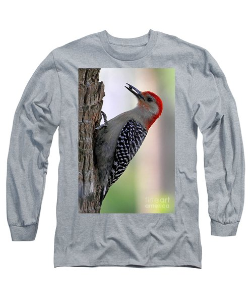 Long Sleeve T-Shirt featuring the photograph Red Bellied Woodpecker  by Meg Rousher