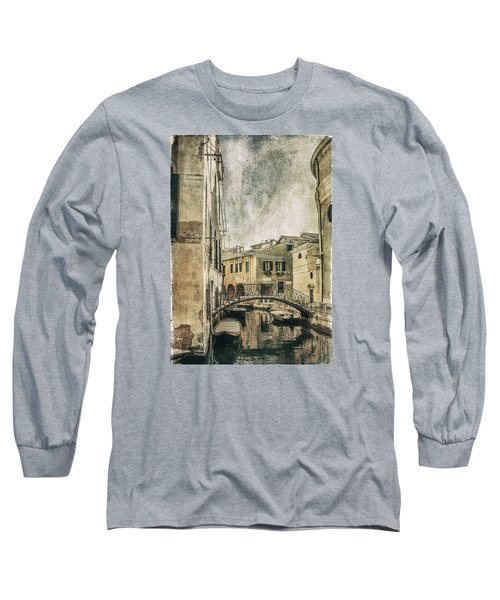 Long Sleeve T-Shirt featuring the photograph Venice Back In Time by Julie Palencia