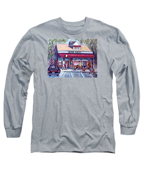 We All Scream For Ice Cream Long Sleeve T-Shirt by Rita Brown