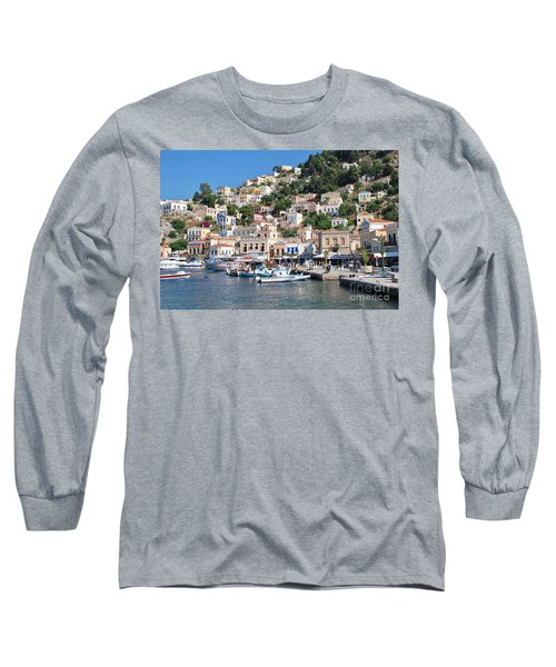 Yialos Harbour Symi Long Sleeve T-Shirt