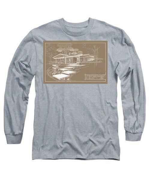 301 Cypress Drive - Sepia Long Sleeve T-Shirt
