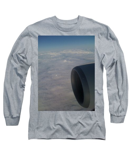 Long Sleeve T-Shirt featuring the photograph 33000 Feet by Mark Alan Perry