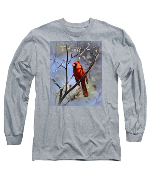 3477-006- Northern Cardinal Long Sleeve T-Shirt